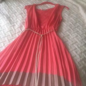 Peach high/low summer dress